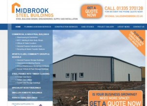 Midbrook steel buildings SEO and Google Ads management